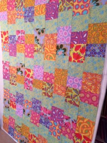 Side View / Cloud Nine quilt top by Ruth Bass