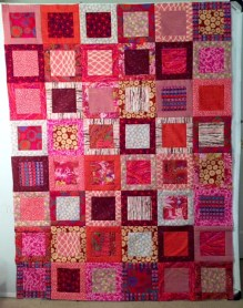 Completed Chianti in Red quilt top by Ruth Bass