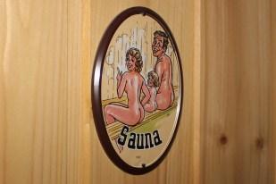 Eingang Sauna