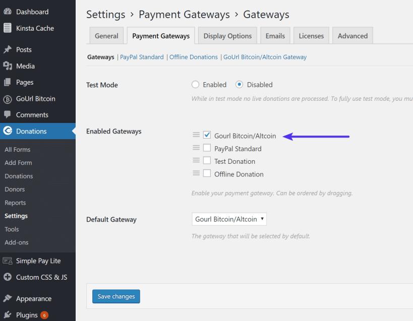 Give default gateways