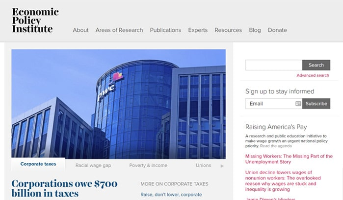economic policy institute wordpress sites