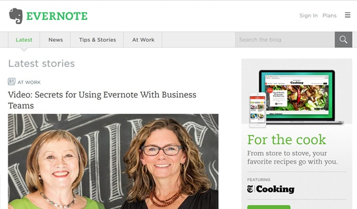evernote wordpress sites