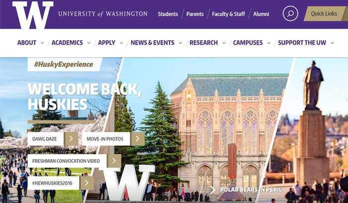 university of washington wordpress sites