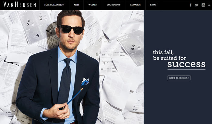 van heusen wordpress sites
