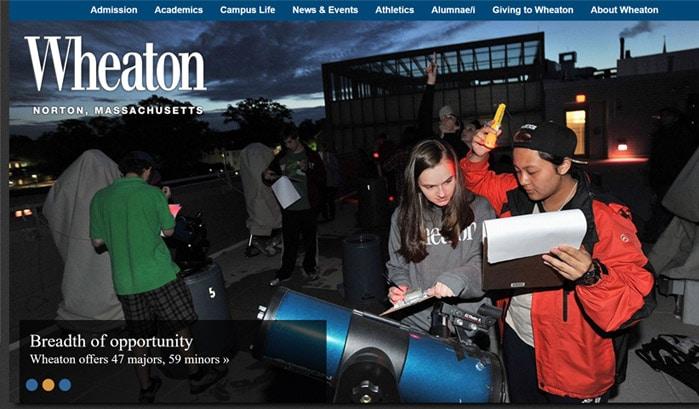 wheaton college wordpress sites