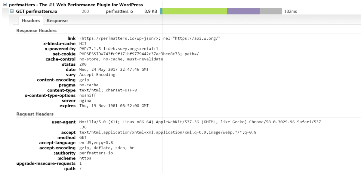 gtmetrix http response header