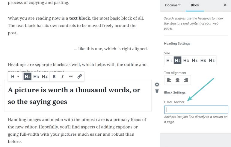 Dukungan jangkar Gutenberg