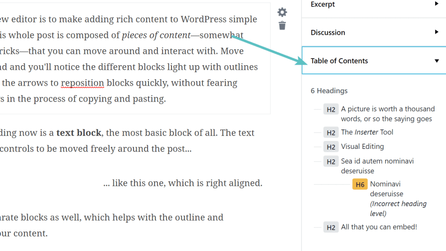 Daftar isi Gutenberg