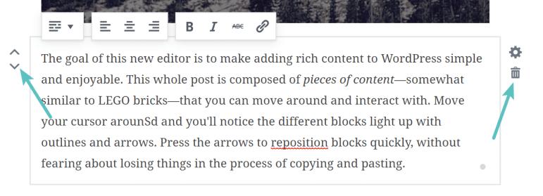 Bekerja dengan blok Gutenberg