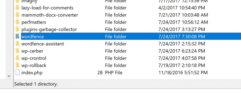 Delete wordpress plugin via FTP