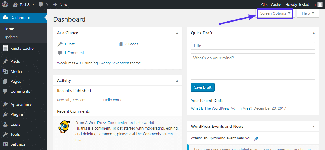What Is the WordPress Admin Dashboard? (Overview and Tips)