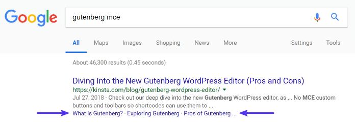 Google örneğindeki bağlantı bağlantıları