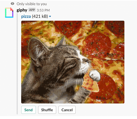 Giphy preview in Slack