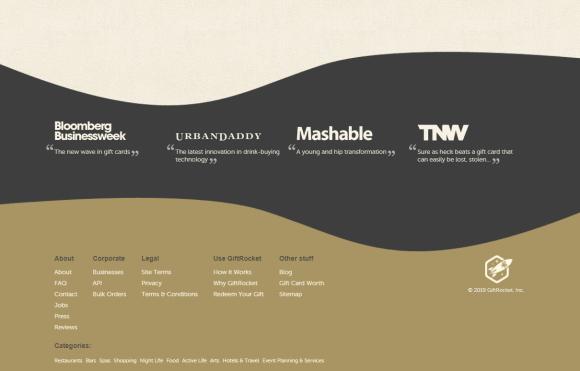 web design trends: giftrocket