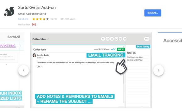 sortd gmail addon 1