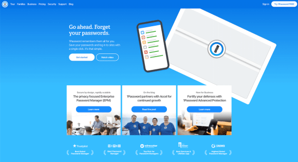 SaaS products: 1Password