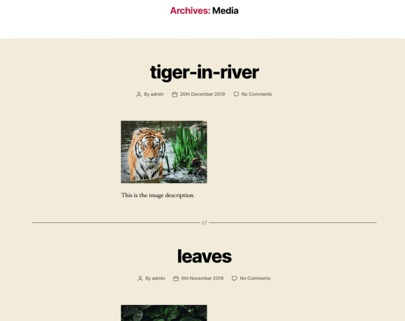 image archive page
