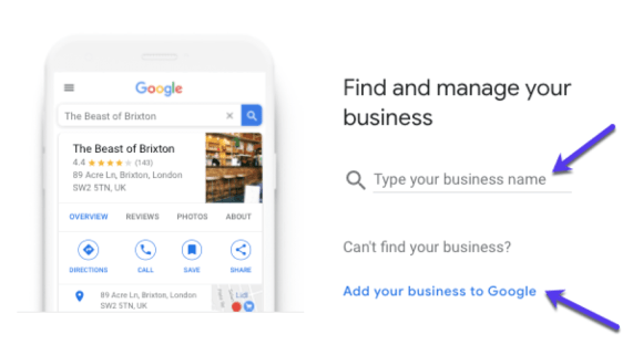 Finding your business on GMB