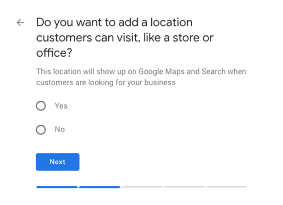 Adding a location to GMB