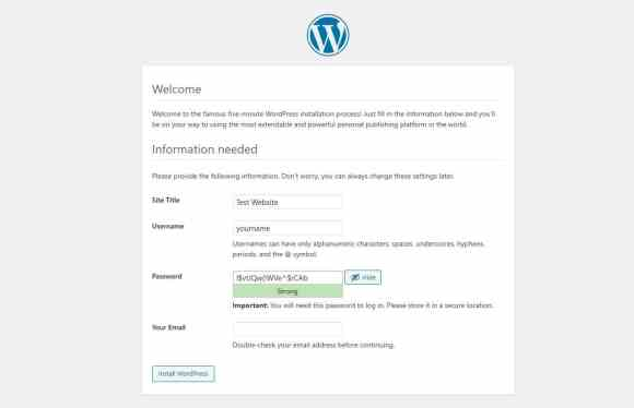 new wordpress welcome
