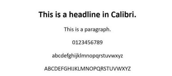 calibri font - web safe fonts