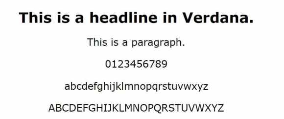 verdana font - web safe fonts
