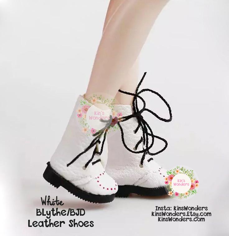 CCS Momoko Ruruko Blythe doll 27cm Obitsu Mid-Calf Lace-Up Boots Enamel Brown
