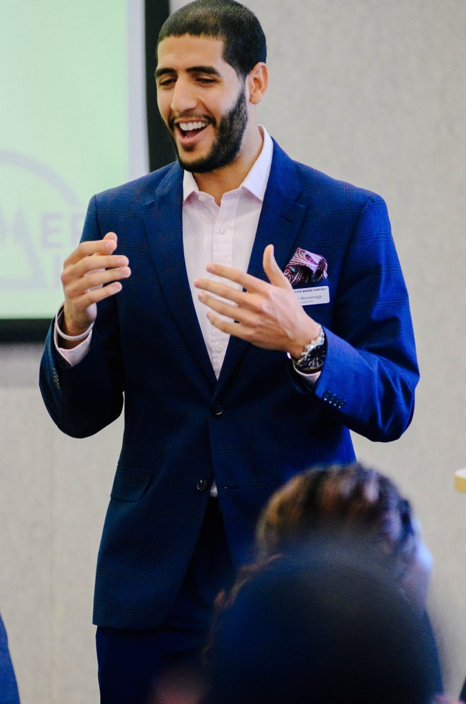 Karim Abouelnaga, Practice Makes Perfect's CEO gives opening remarks at