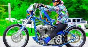 ニュースクールなお洒落すぎる!ライダーとバイクの一体型コーディネートチョッパーPortfolioチョッパー ニュースクール ハーレー 3