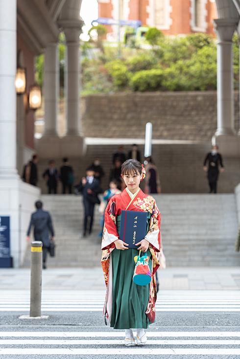 卒業写真撮影at慶應義塾大学