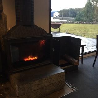 Fireside @ Pumphouse Point in Tasmania