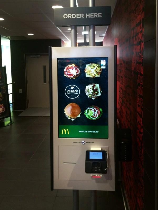 mcdonalds kiosk burger ordering