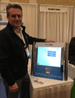 Shawn Grism of Slabbkiosk with countertop