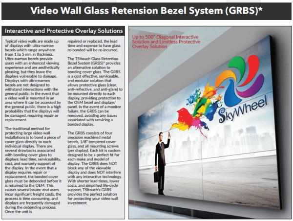 touchscreen glass retention