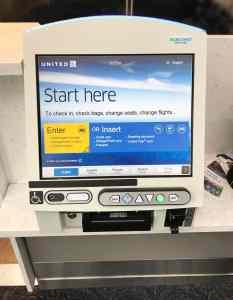 United airlines kiosk