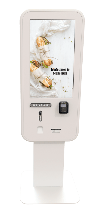 32 front with menu screen - white
