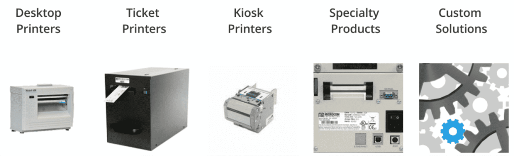 microcom kiosk printers