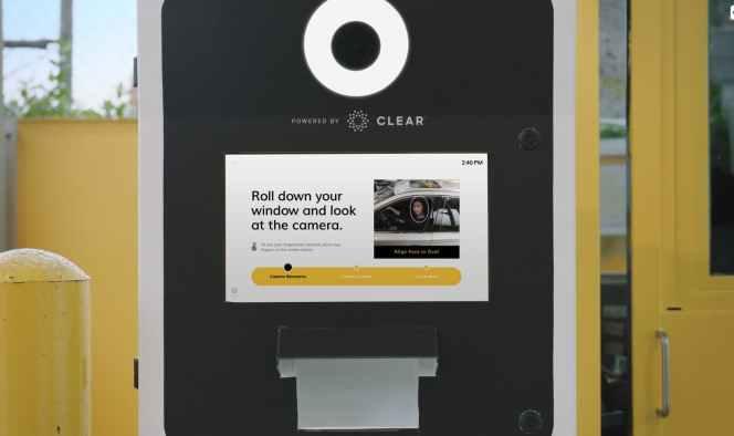 biometric kiosk check-in image