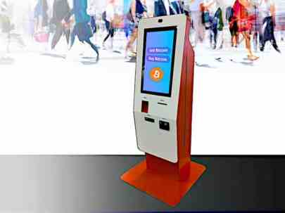 bitcoin atm kiosk information systems example unit deployed for Bitstop