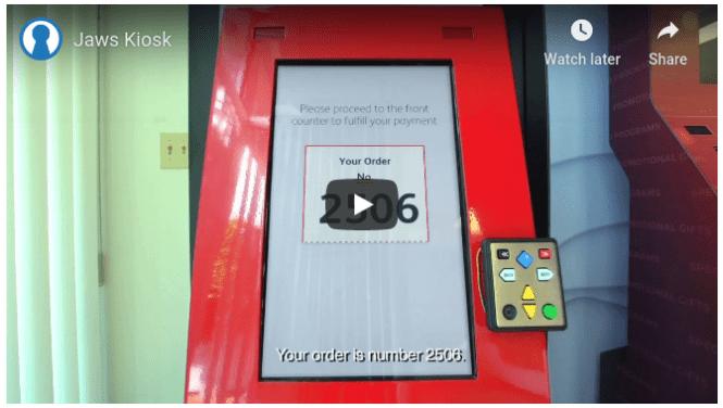 JAWS kiosk video Freedom