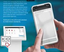 touchless kiosk interface