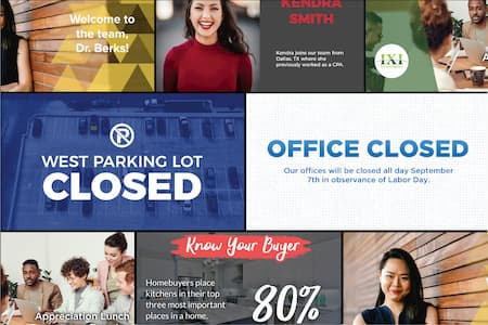 Digital Signage Templates by Nanonation