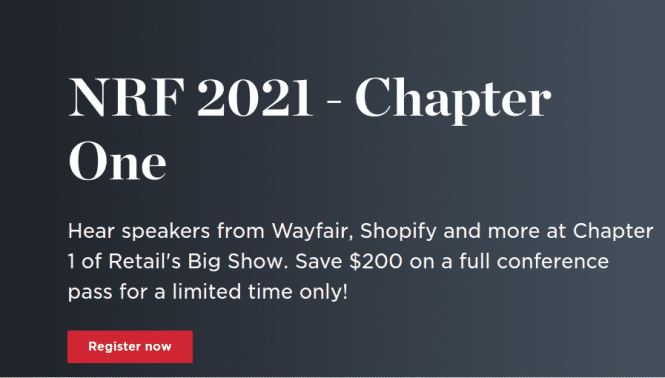 NRF 2021 Chapter One KIosk Trade Show