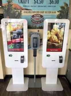 Food kiosk for order kiosk Grubbr Chicken Shack