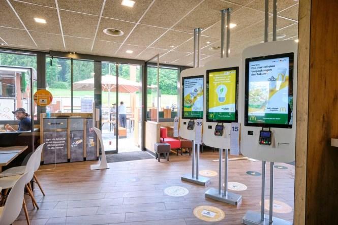 McDonalds Restaurant Kiosk Switzerland