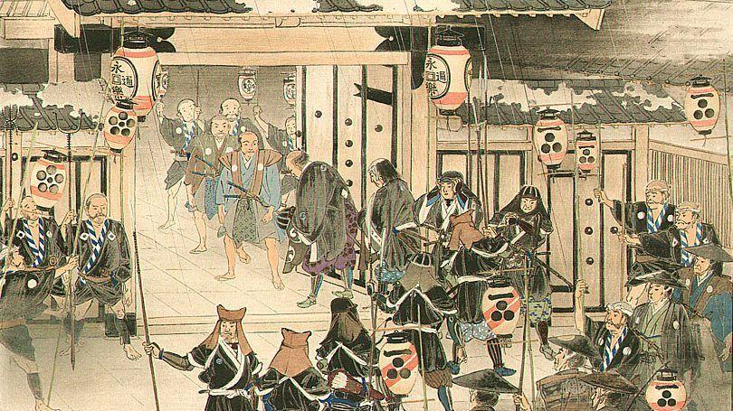 Los 47 ronin marchan tras acabar con Kira