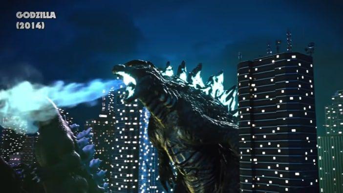 aliento atómico de Godzilla en la película de 2014