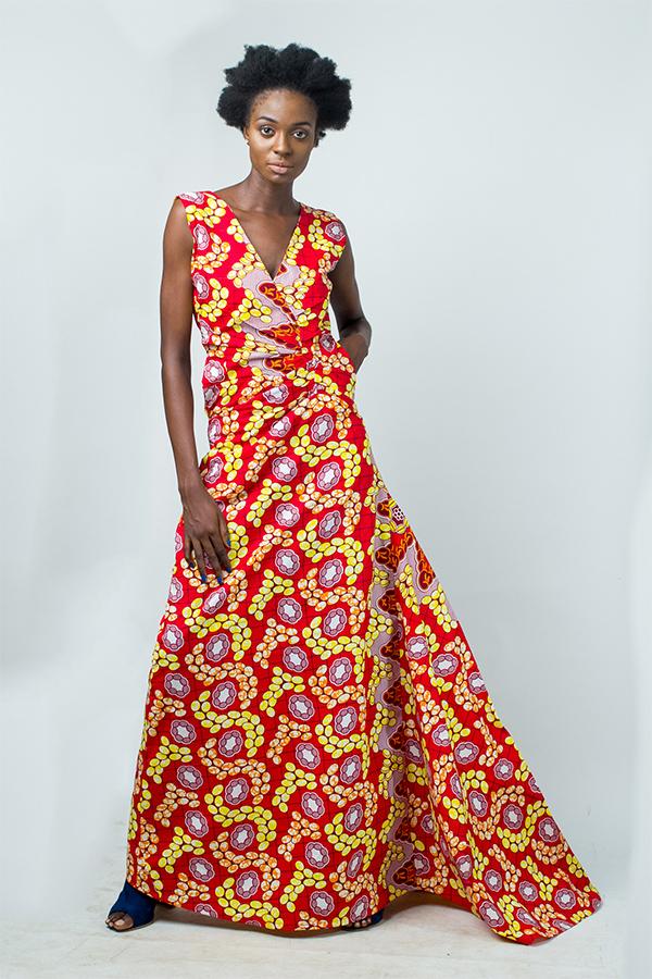 819568c511 African print maxi dress - Kipfashion