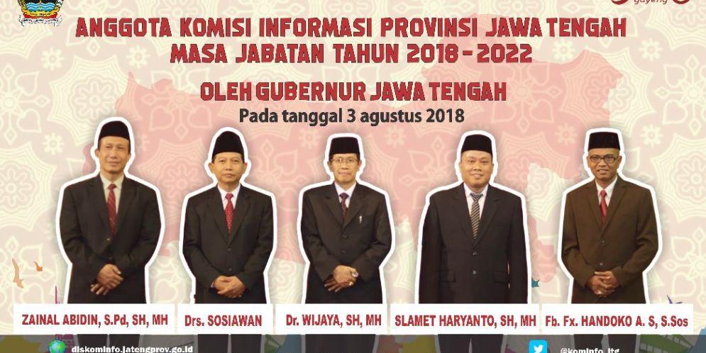 Komisioner KIP Jateng Masa Jabatan 2018 – 2022