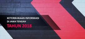 Prosentase Keterbukaan Badan Publik di Jawa Tengah th 2018